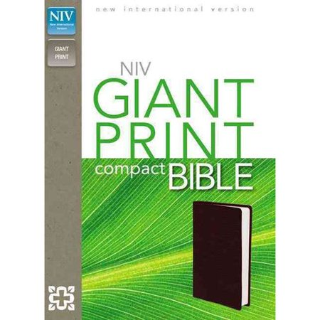 Holy Bible  New International Version  Burgundy  Leather Look  Giant Print
