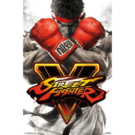 Street Fighter V Key Art Wall Poster 22.375