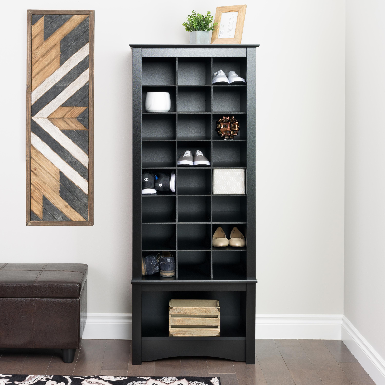 Entryway Cabinet prepac tall shoe cubbie entryway cabinet - walmart