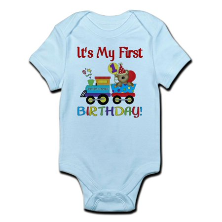 First Birthday Bodysuit (CafePress - First Birthday Bear Train Infant Bodysuit - Baby Light Bodysuit )