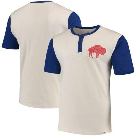 Bruce Smith Buffalo Bills - Buffalo Bills NFL Pro Line by Fanatics Branded True Classics Throwback Henley T-Shirt - Cream/Royal
