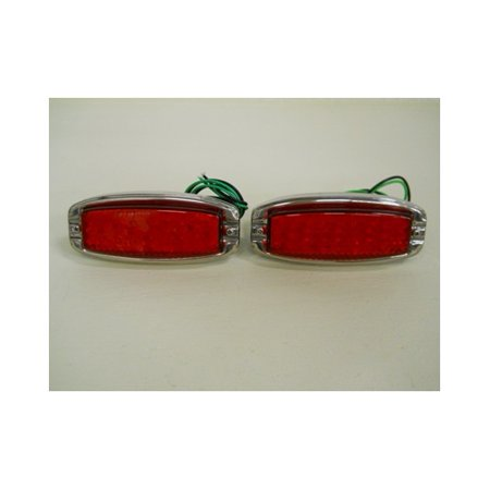 1941 - 1948 Chevy LED Stop Turn Signal Tail Light Kits / Stainless Steel (Stainless Steel Tail Light Bezels)