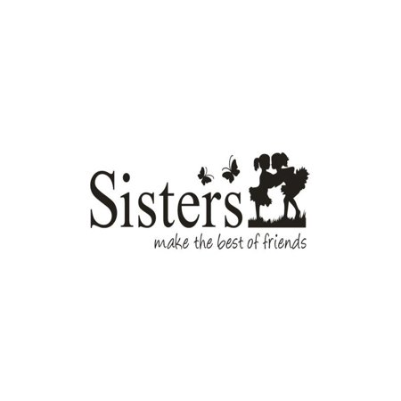 OkrayDirect Sisters Wake The Best OF Friends PVC Wall Sticker Home Decor DIY