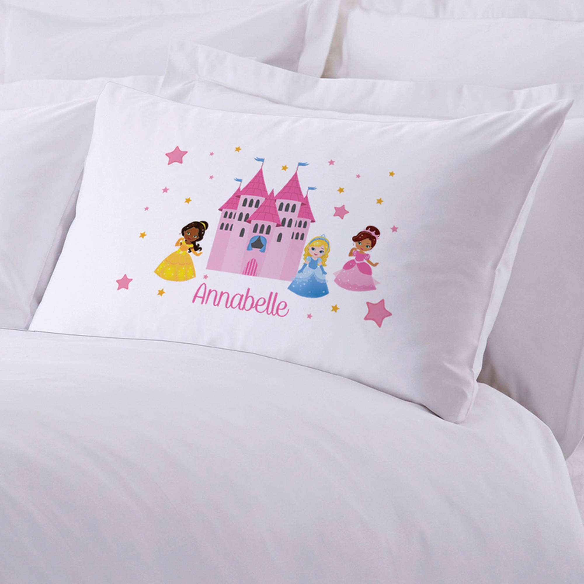 "Personalized Princess Castle Pillow Case, 20"" x 30"""