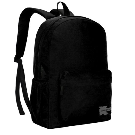 b669e79791 K-Cliffs - Classic Backpack High Quality Basic Bookbag Simple Student School  Bag Lightweight Water Resistant Durable Daypack Black - Walmart.com