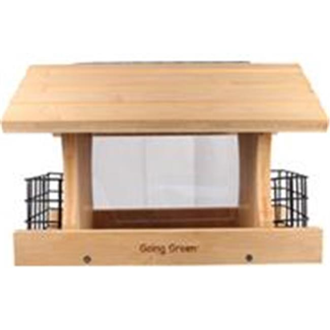 Audubon-Woodlink 991021 Deluxe Bamboo Feeder With Suet Cages