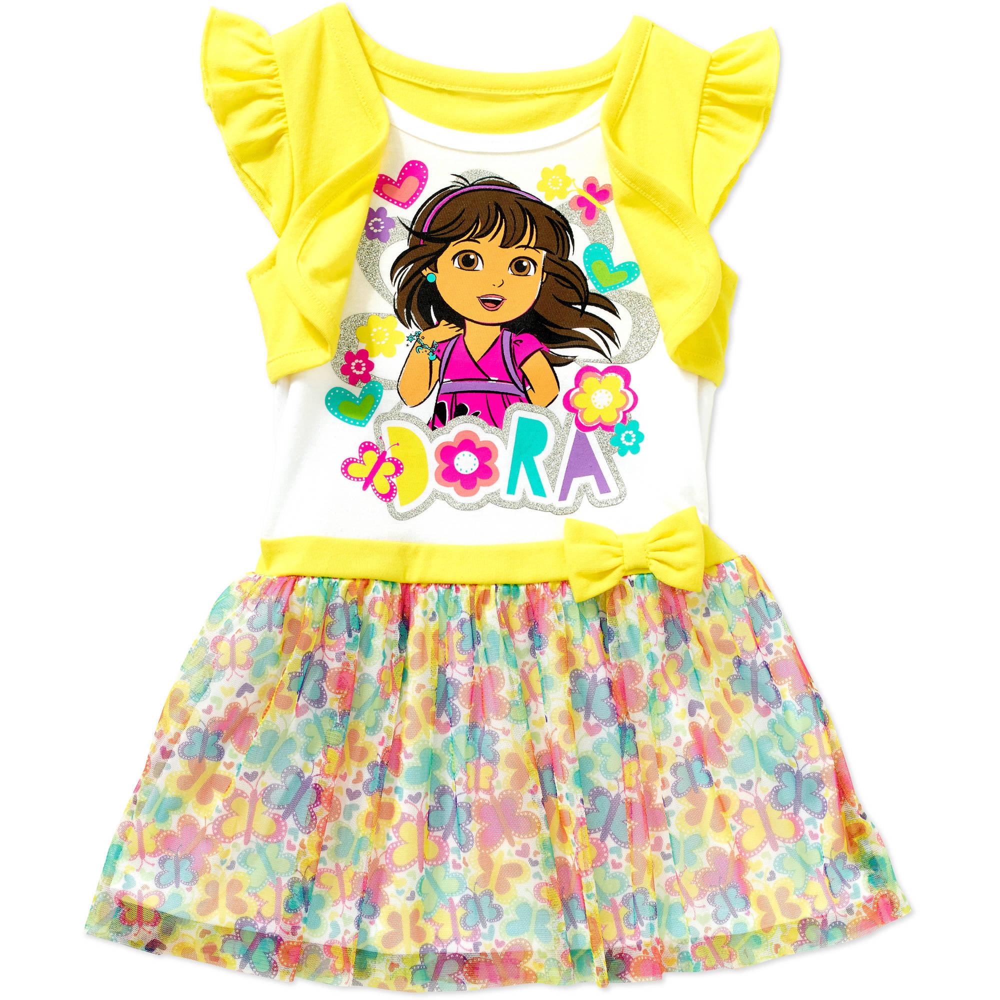 Nickelodeon Toddler Girl Tee Shirt Dress - Walmart.com