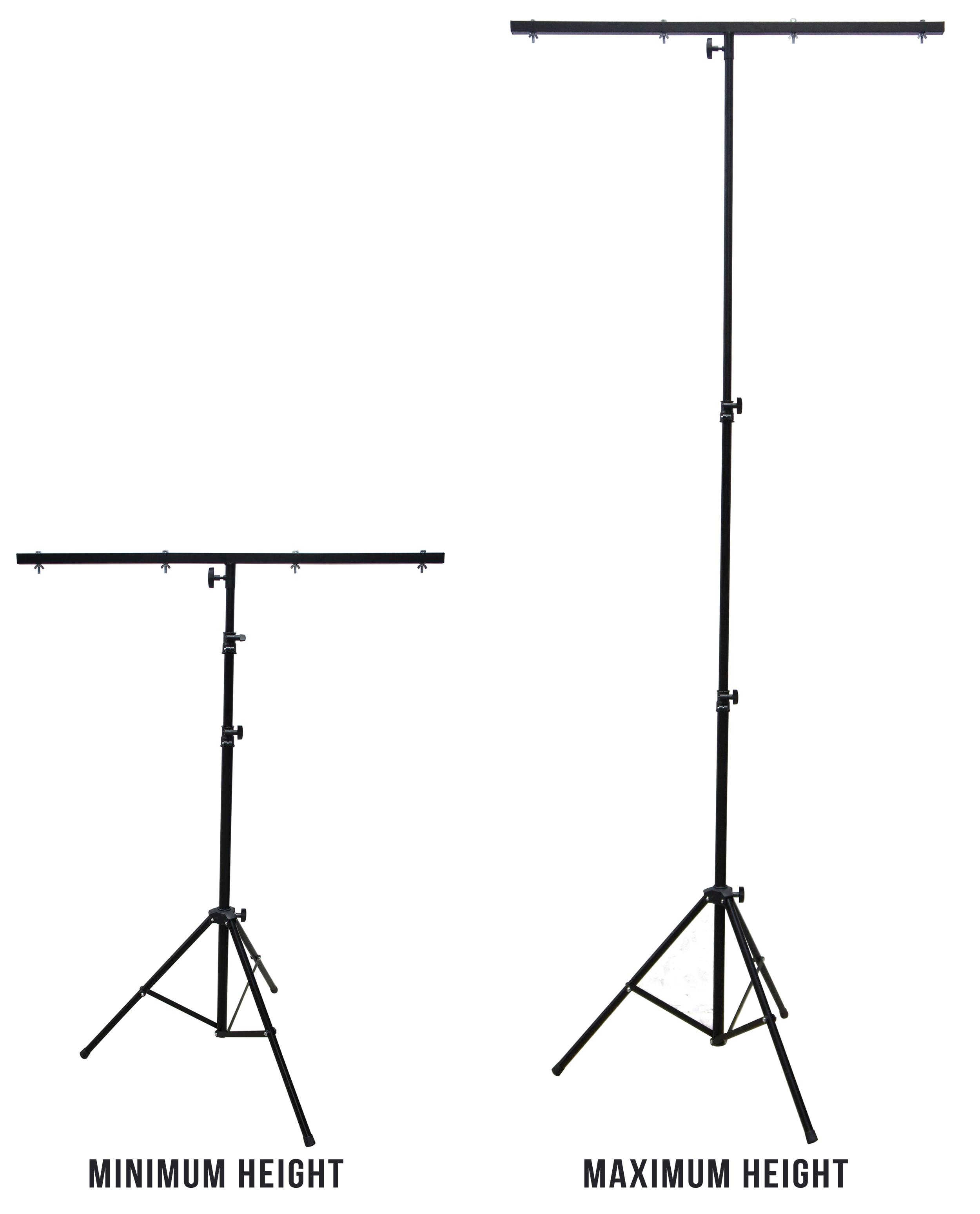 Harmony Audio HA-TBARSTAND Pro DJ Lighting Tripod & T-Bar Portable Light Stand by Harmony Audio Stands