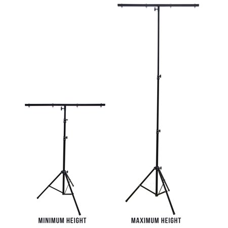 Harmony Audio HA-TBARSTAND Pro DJ Lighting Tripod & T-Bar Portable Light Stand (Dj Light Stand With Case)