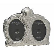 Gelco Italian 925 Sterling Silver Handmade Oval Ornate 3.5x5 Double Picture Frame