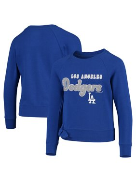 Los Angeles Dodgers New Era Girls Youth Side-Tie Pullover Sweatshirt - Royal