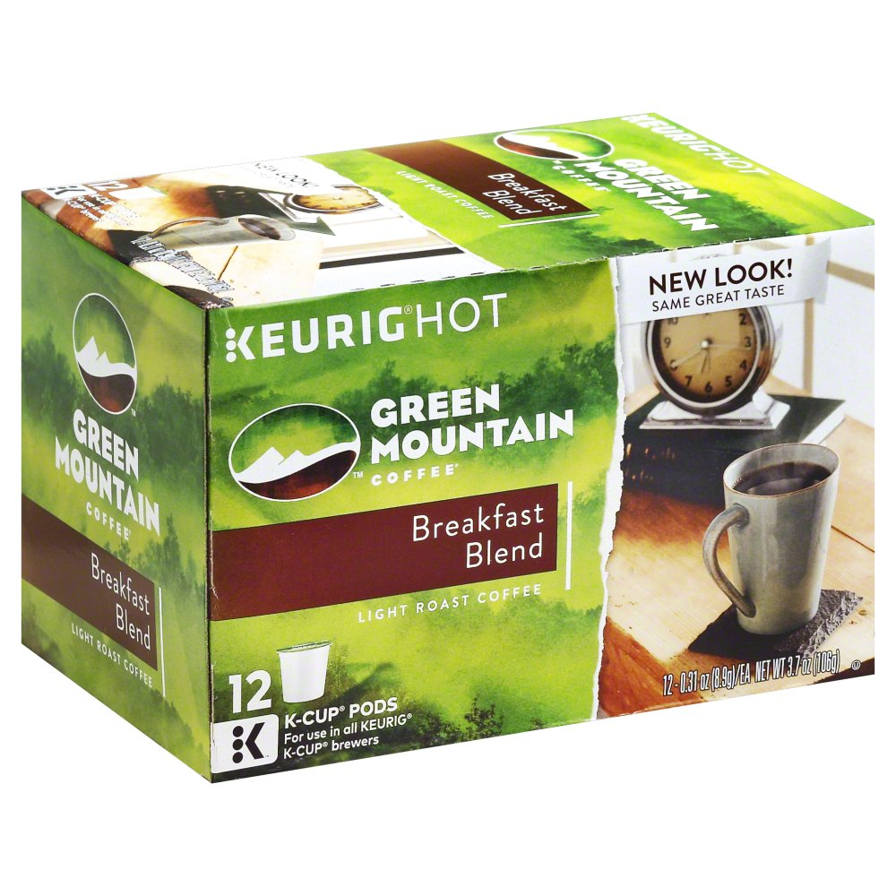 Green Mountain Coffee Breakfast Blend K Cup, 12 CT (Pack of 6)