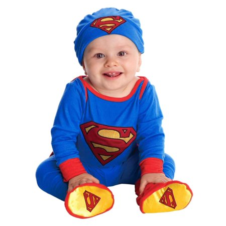 DC Comics Infant Boys Superman Costume Baby Bodysuit Pants Hat & Booties Outfit - Superman Outfit