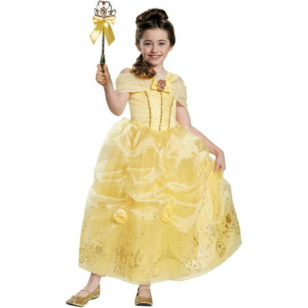 Belle Prestige Girls Child Halloween - Belle Halloween Dress
