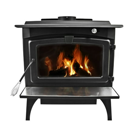 - Pleasant Hearth 2,200 Sq. Ft. Large Wood Burning Stove