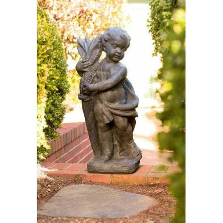 Ladybug Garden Decor Cherubs Statue