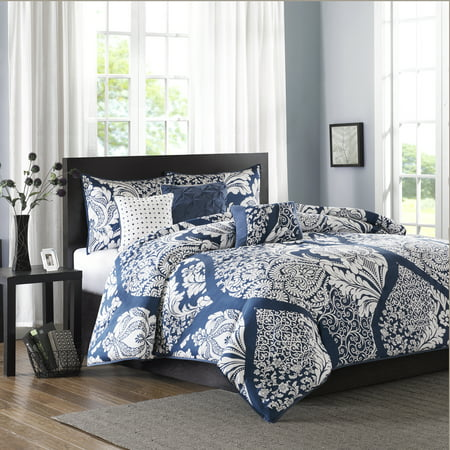 Home Essence Adela 6PC Cotton Sateen Printed Duvet Cover Bedding Set