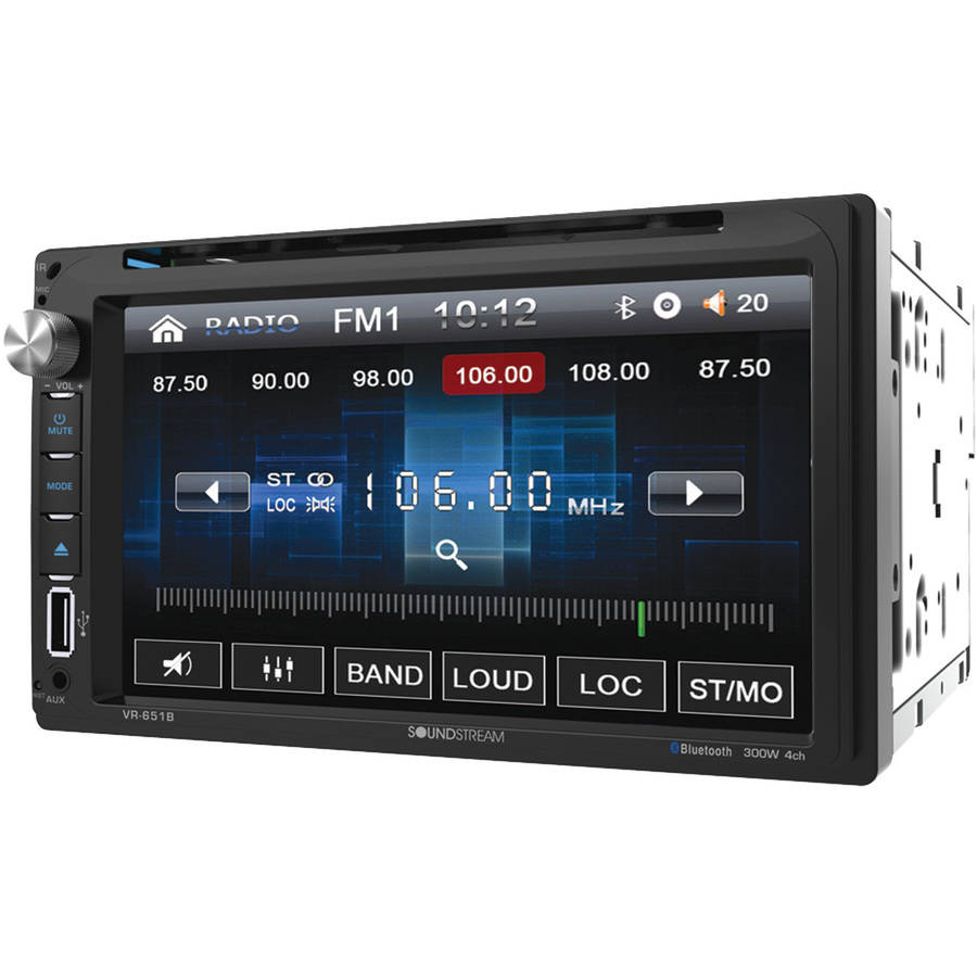 "Soundstream VR-651B 6.5"" Double-DIN In-Dash DVD Receiver with Bluetooth"