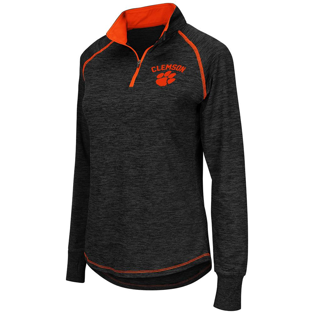 Womens NCAA Clemson Tigers Bikram Long Sleeve Quarter Zip Shirt
