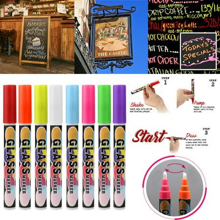 Iuhan Chalk Markers Chalkboard Erasable Dustless Water Based Liquid Wet Erase Pen -