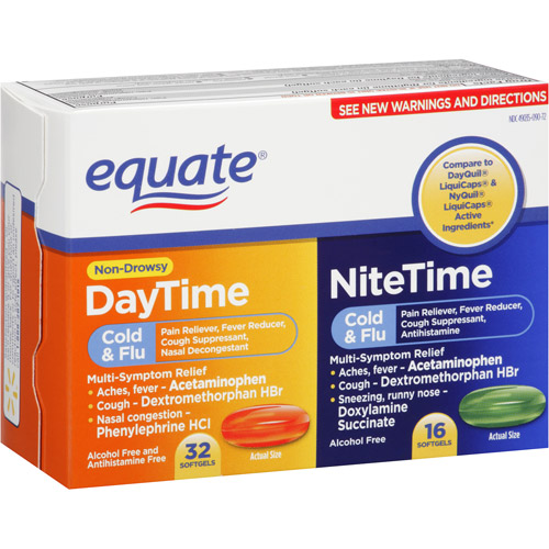 Equate Day/Night Gelcaps, 48 count