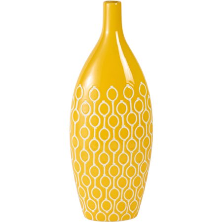 Elements 18 Inch Yellow Ceramic Vase Walmart