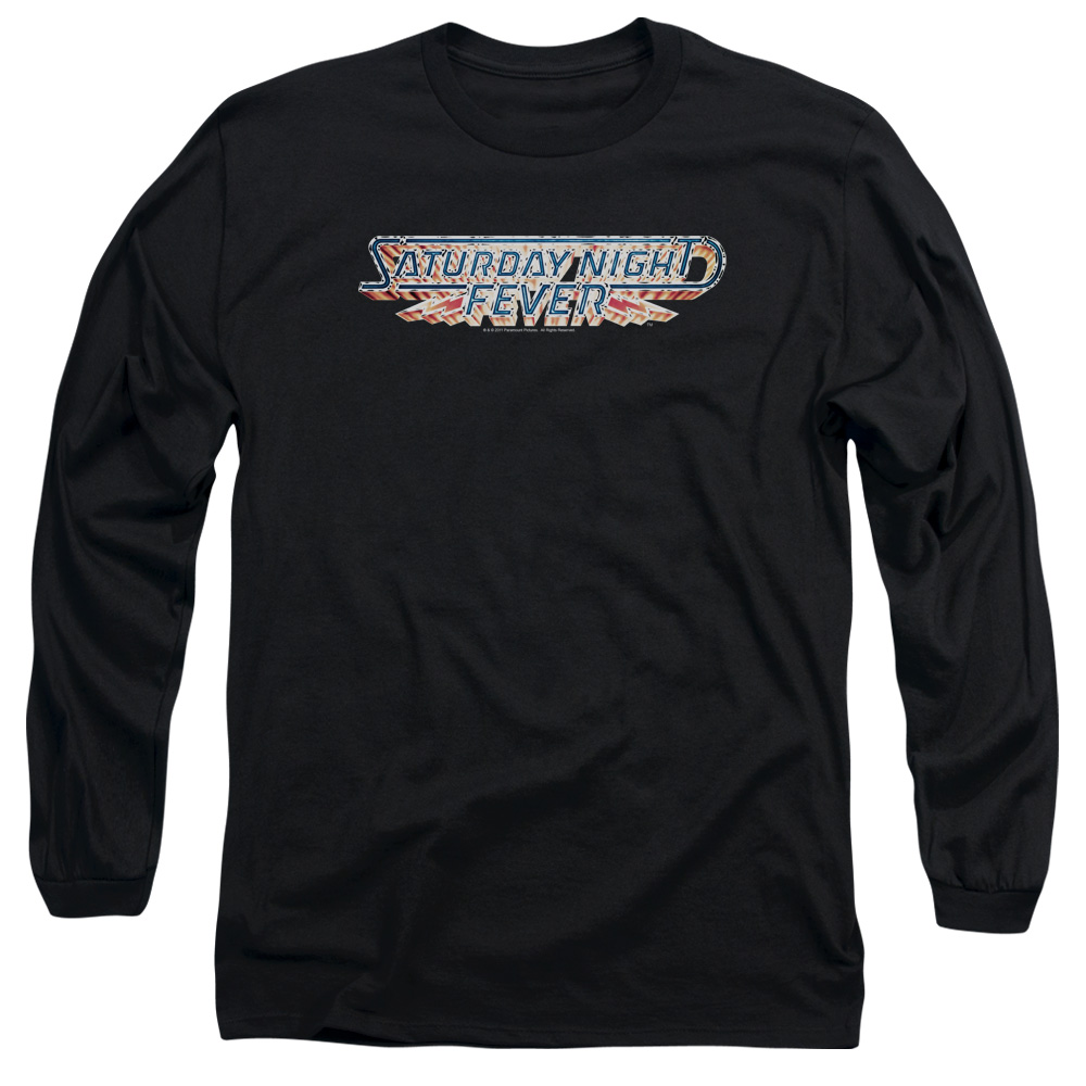 Saturday Night Fever Romance Disco Drama Movie Logo Adult Long Sleeve T-Shirt