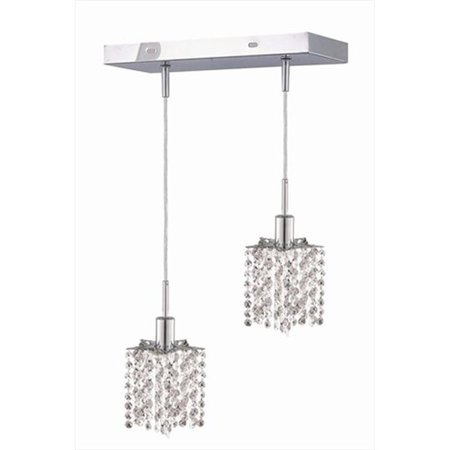 1282D-O-P-CL-EC 8 x 4.5 x 12 - 48 in. Mini Collection Hanging Fixture Oblong Canopy - Star Pendant, Elegant (Billiard Oblong Pendant)