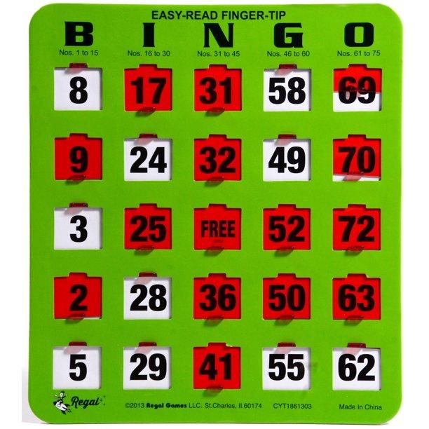 Regal Games 200 Jumbo Easy Read Green Fingertip Shutter Slide
