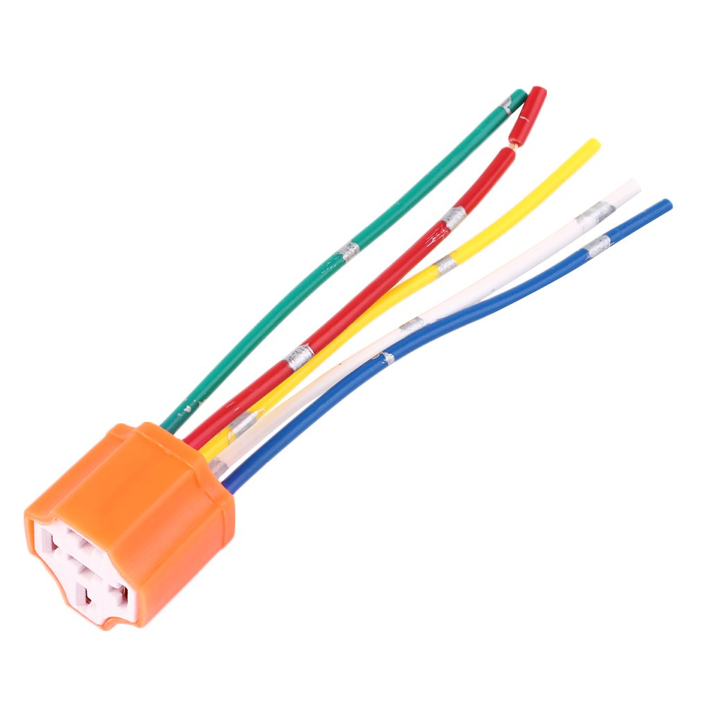 Relay Socket Car Orange Plastic Replacement Automotive Wiring Harness Pins 5 Pin Wire For