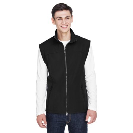 The Ash City - North End Men's Three-Layer Light Bonded Performance Soft Shell Vest - BLACK 703 - XL The North Face Waterproof Vest