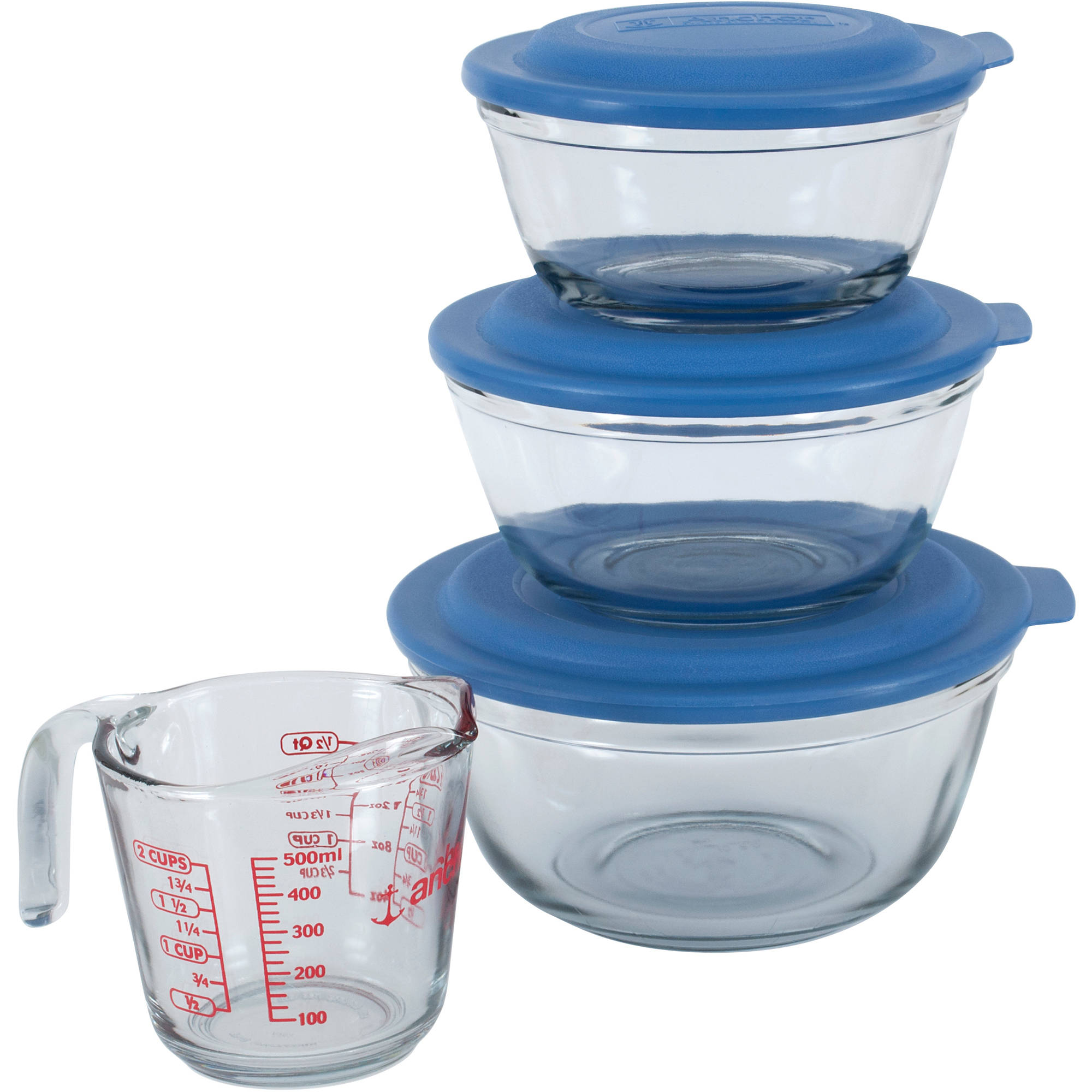 Anchor Hocking 7-Piece Mixing Bowl Prep Set