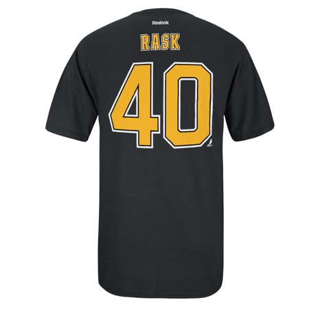 Boston Bruins Reebok NHL Tuukka Rask #40 Hd Player Name And Number T-Shirt (Black) Reebok Boston Bruins Face