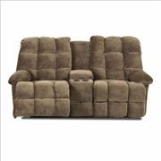 KlaussnerFurniture 012013152706 Klaussner Brownsville Power Reclining Loveseat With Console, Mocha