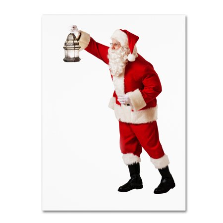 Trademark Fine Art 'Santa-lantern-11096' Canvas Art by Ed Wheeler Ed Hand Numbered Fine Art