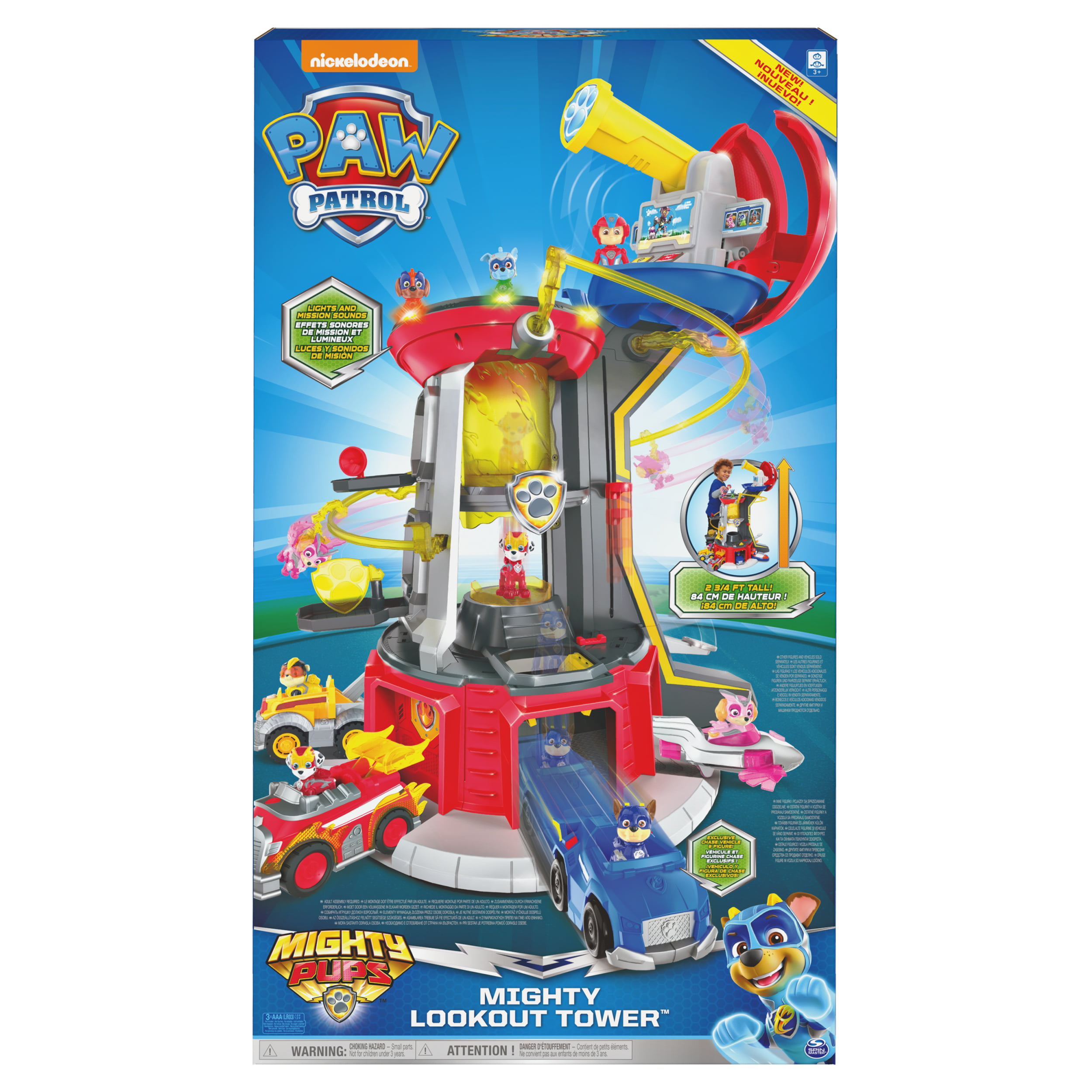 Mighty Pups Super Lookout Tower Playset with Lights and Sounds *New* PAW Patrol