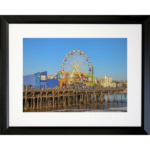Buy Art For Less 'Santa Monica Pier' by Brandi Fitzgerald Framed Photographic Print