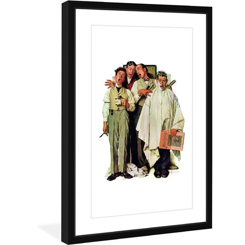 "Marmont Hill ""Barbershop Quartet"" by Norman Rockwell Framed Art Print"
