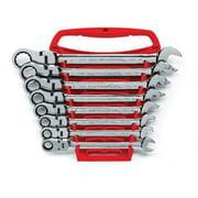 Flex Head SAE Comb 8 Piece Wrench Set