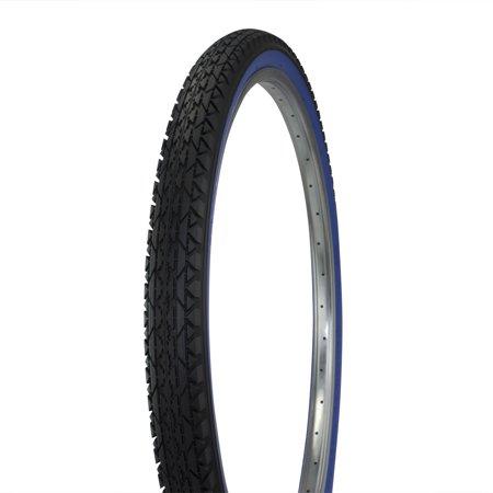 Wanda Diamond Tread Bicycle Tire White Wall 26 x 2.125, for Beach Cruiser Bikes, Black/Blue