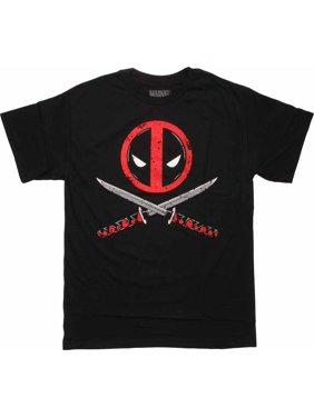 Deadpool Logo Cross Swords T Shirt