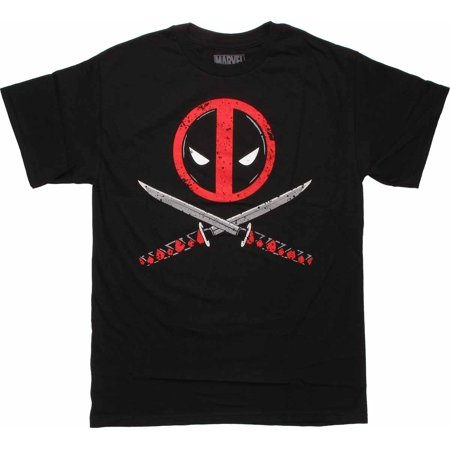 Deadpool T Shirts (Deadpool Logo Cross Swords T)