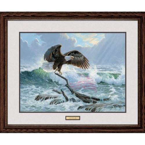 Wild Wings To Shining Sea by Persis Clayton Weirs Framed Painting Print by