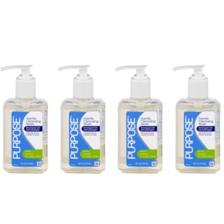 4 Pack Purpose Gentle Cleansing Face Wash 6 oz
