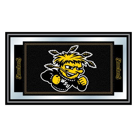 Trademark Gameroom Wichita State University Logo and Mascot Framed Mirror Oklahoma State Wall Mirror