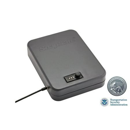 "SnapSafe 75250 Lock Box Combination XXL Personal Safe 11.5"" W x 8.5"" H x 2.5"" D (Exterior) Mechanical Dial Single 16 Gauge Steel Black"