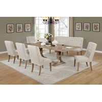 Best Quality Furniture Clasic Style 7-Piece Dining Set with bench D37
