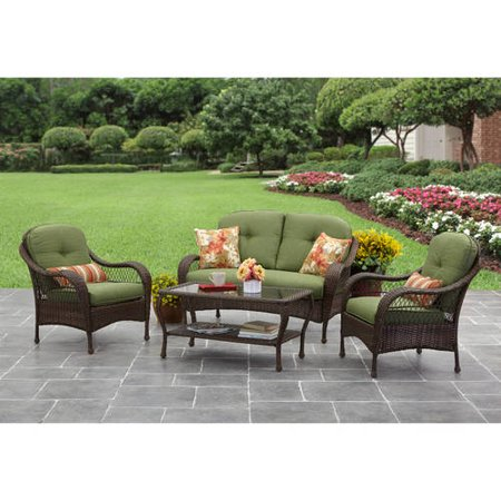 This button opens a dialog that displays additional images for this product  with the option to zoom in or out. Better Homes and Gardens Azalea Ridge 4 Piece Patio Conversation