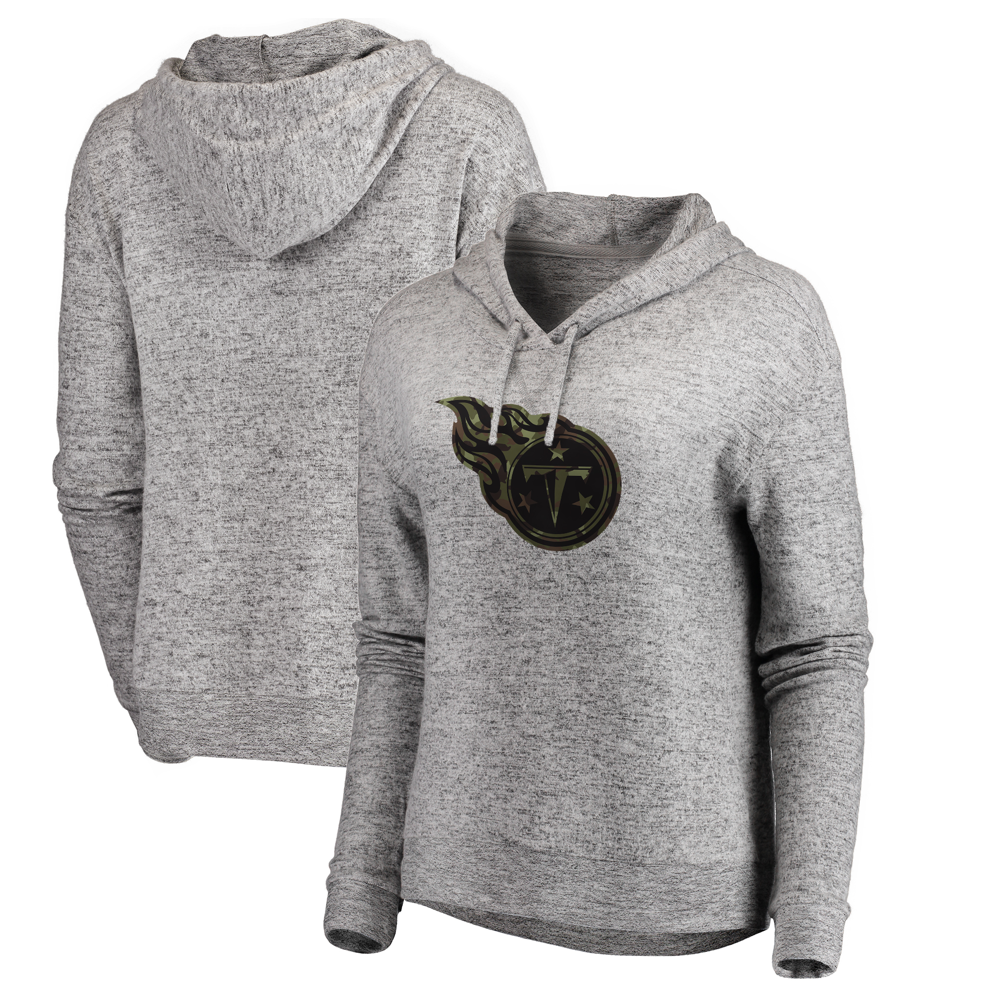 Tennessee Titans NFL Pro Line by Fanatics Branded Women's Cozy Collection Prestige Pullover Hoodie - Heathered Gray