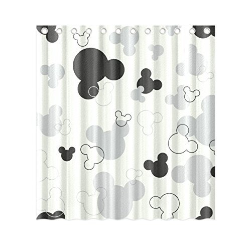 DEYOU Mickey Mouse Shower Curtain Polyester Fabric Bathroom Size 60x72 Inches